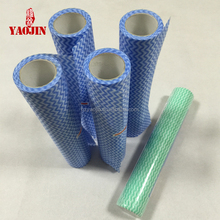 Perforated multi-purpose nonwoven cleaning rolls polyester/viscose spunlace cleaning cloth/super towel roll/kitchen chux wipes