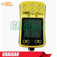portable multi gas detector 4 in 1 gas detector O2 Hydrothion H2S CO2 Smart Sensor AS8900