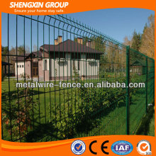 Green coated welded metal fencing panels