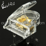 Transparent Crystal Piano Shape Music Box