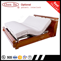2015 new design adjustable bed with double twin