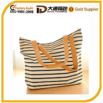 shopping eco-friendly durable canvas tote bag
