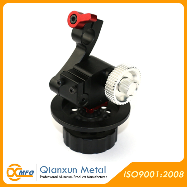 Aluminum spare parts for video camera by CNC machining