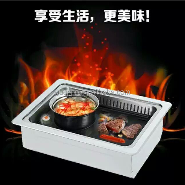 Low MOQ simple opertion japanese bbq grill hot pot table electric teppanyaki grill