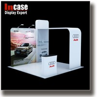 Incase Aluminum extrusion trade show display wall for car fairs