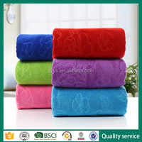 80% polyester 20% bright color microfiber nylon bath towel
