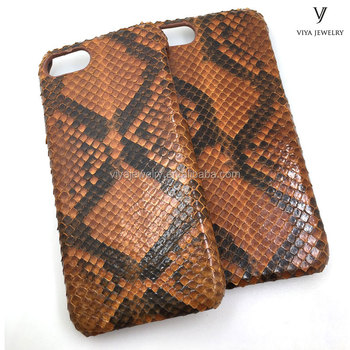 true python leather handmade phone case high level quality product
