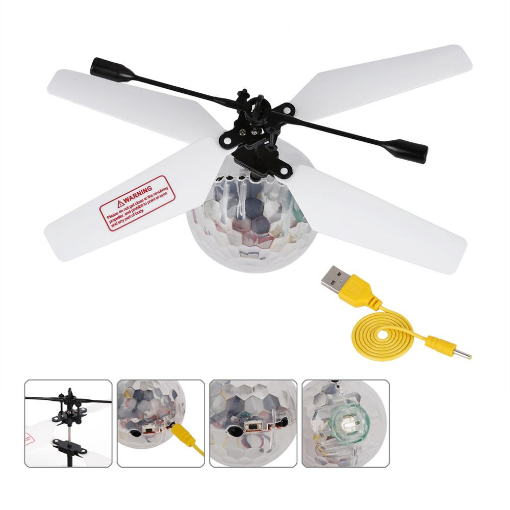 RC Flying Ball RC infrared Induction Helicopter Ball Built-in Music for Kids