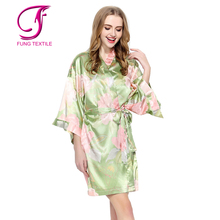 Fung 3016 Short Design Silk Women Kimonos