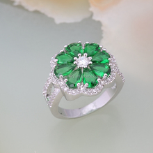 2015 new fashion copper emerald gemstone ring