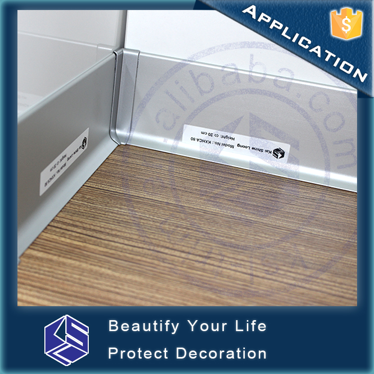 Floor kick board stylish skirting strip aluminum skirting base board