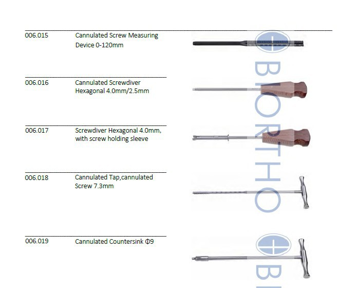 7.3 Cannulated Instruments Set, Orthopedic Instruments Surgical Instruments