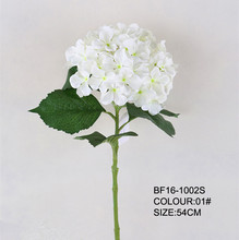 Artificial single stem silk hydrangea flower white colour