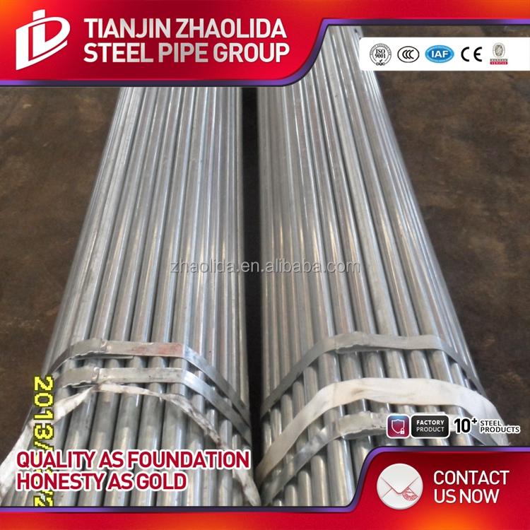 Tianjin Supplier scaffoldings used hot dip galvanized steel pipe / pre galvanized pipe for fast delivery