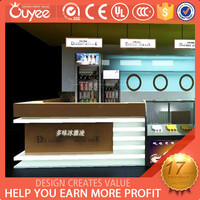 Hot sale factory directly sale newest style smoothie bar kiosk