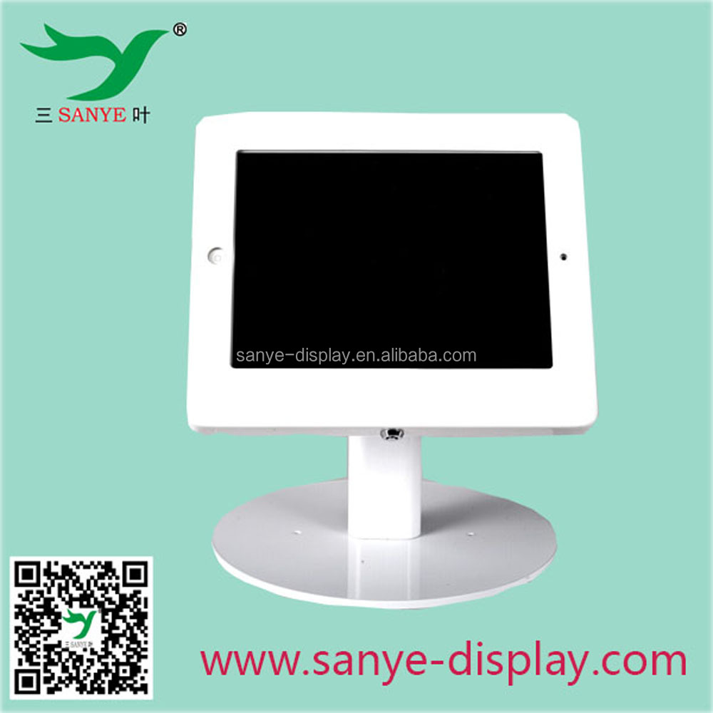 hot sale metal tablet for ipad stand lock white