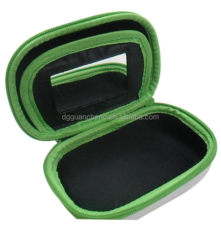 GC-Portable round Hard shell Case Bag Carry Pouch Bag eva hard cosmetics case