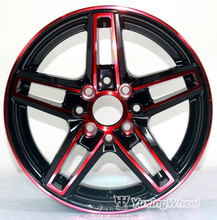 Silver Finishing and 5 Hole Car alloy wheel
