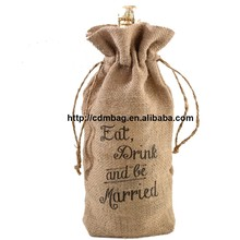 eco friendly new product promotional jute wine bag