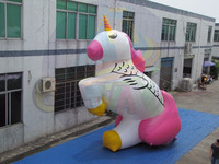 New inflatable the unicorn cartoon character, Giant inflatable the unicorn balloon, inflatable air blown advertising balloons