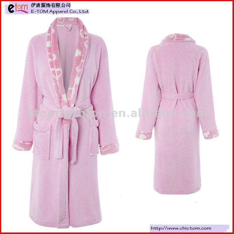 Ladies Two Side Flannel Fleece Robe Night Gown RP6906