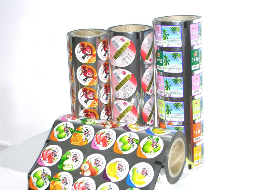 Plastic Cup Sealing Film for Milk,Jelly,2015 hot sale Package Film