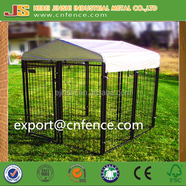 1.22x1.22x1.85m powder coated welded dog kennel fence panel with enclosure