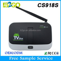 Chromecast Internet TV Box Indian Channels Android 4.4 Built-in 5MP Camera+Mic Bluetooth WIFI Smart Multimedia Player CS918S