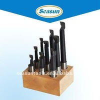 Carbide Tipped Boring Bar Sets with Wooden Stand