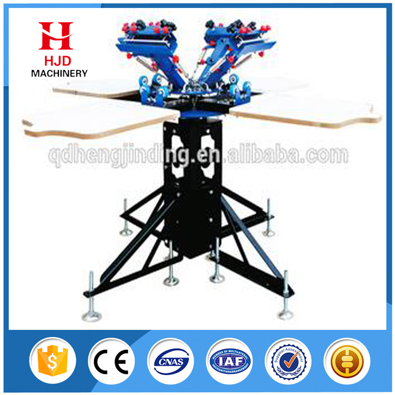 Manual t shirt screen printing machine 4 color 4 station