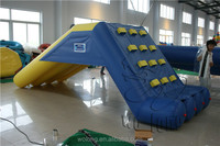 inflatable water toys, inflatable floating games with slide for sale