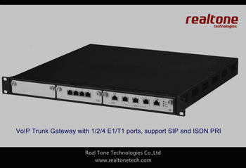 4 E1/T1 Digital Trunk VoIP Gateway SIP based