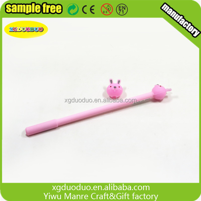 Promotional Cartoon Design 3D PVC Pencil/Pen Topper Manufacture