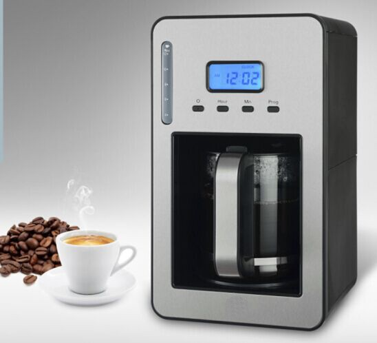 Programmable Stainless Steel Drip Coffee Maker Machine 1.2L