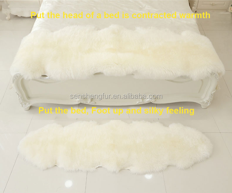 Natural Wool Lamb Skin rug