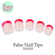 Oval Full Cover Nails Round Tips Fake False Gel Art Acrylic Long Manicure NA018