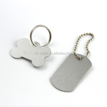 custom printed stainless steel dog tag , custom metal logo stamp