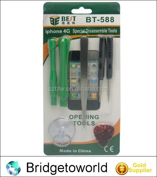 6 in 1 screwdriver set hand tools opening tool for iPhone 4 4s