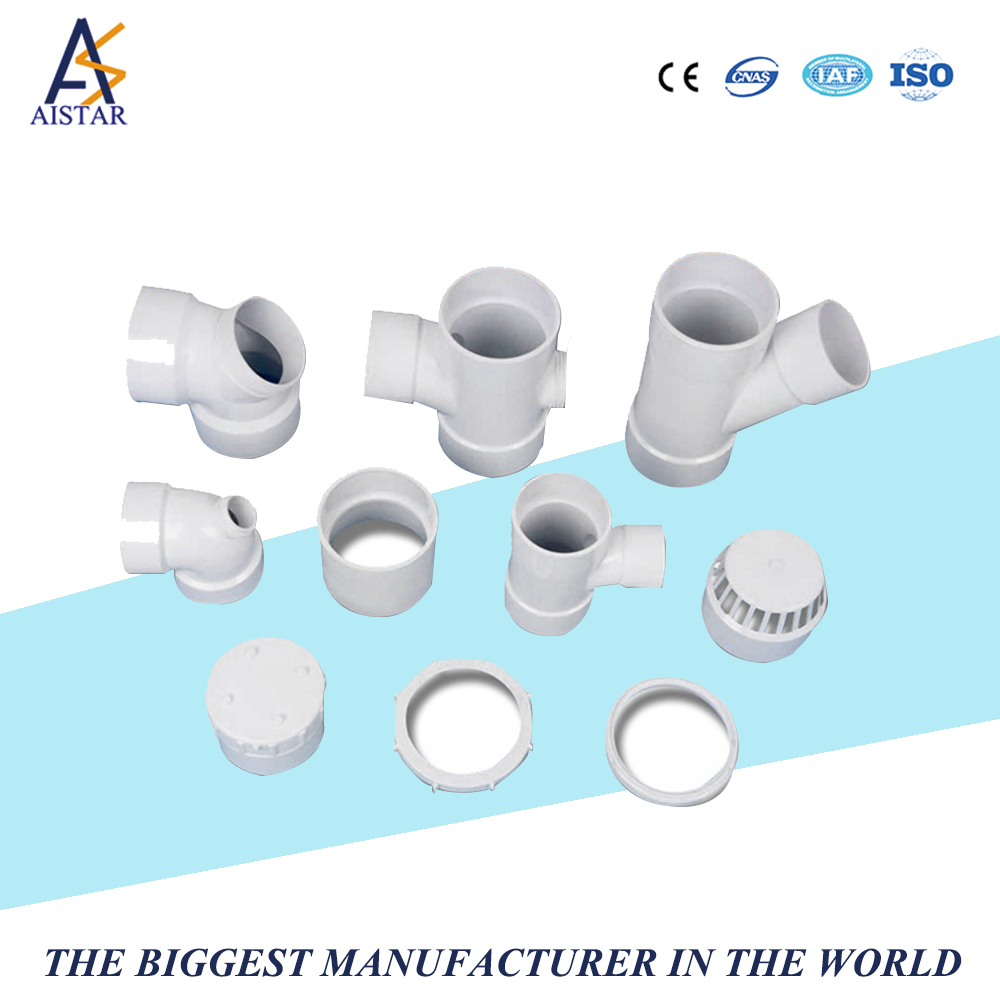 Plastic all size pipe fitting 90 degree 3 way elbow