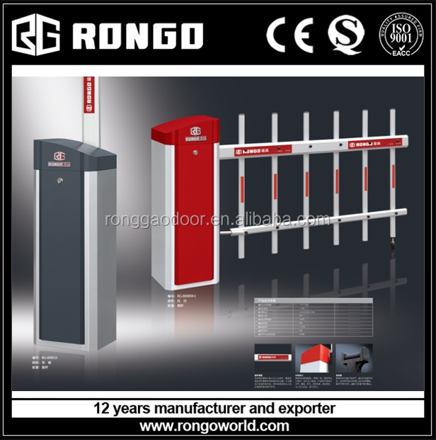 RONGO High-quality barrier gate with cranked pole - can use with entrance and exit station