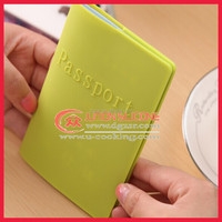 Logo embossed silicone passport cover,silicone passport cover for promotion