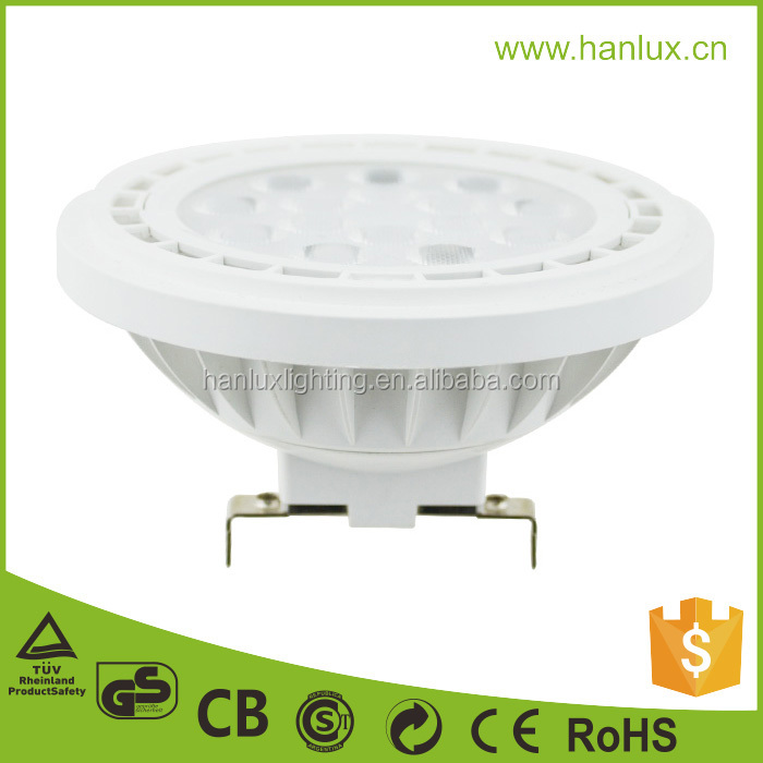 Factory price led qr111 12V 12W 15W lamp 3000k