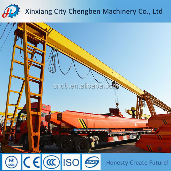 Factory single girder gantry crane with electric hoist