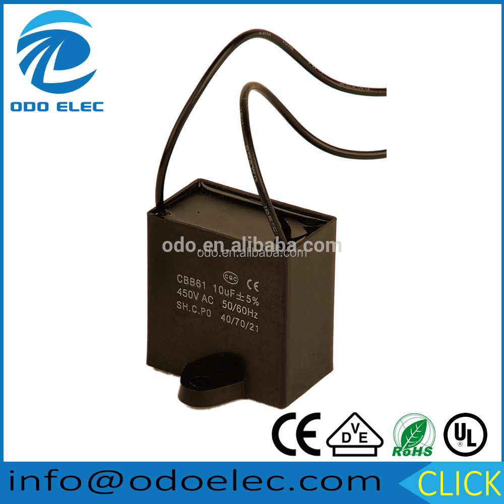 china 4 microfarad 450v fan capacitor assortment discharge