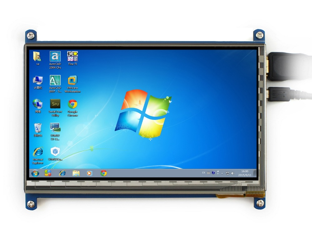 Raspberry pi 7 inch capacitive touch screen HDMi super clear display