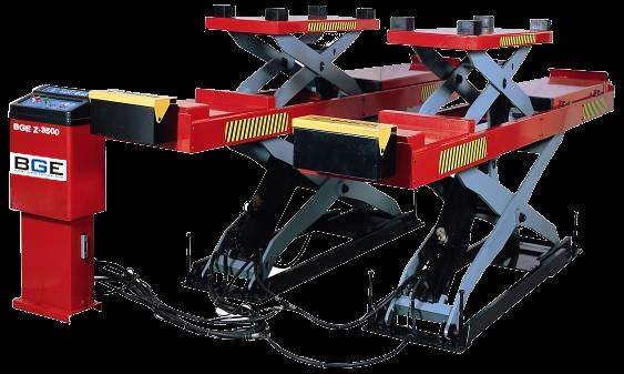 BGE Z-3500 With ramps if installation on the ground Double-Deck Lift (For Wheel Aligner)