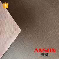 New products on china market brown polish synthetic leather for shoe