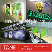 acrylic sheet with high quality/colorful and clear cast acrylic sheet for led light sign boc/flat acrylic sheet