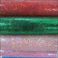 High Grade New style pu glitter leather for shoes Mesh Material