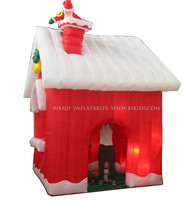 Outdoor inflatable Christmas decorations Christmas House with LED light C1015